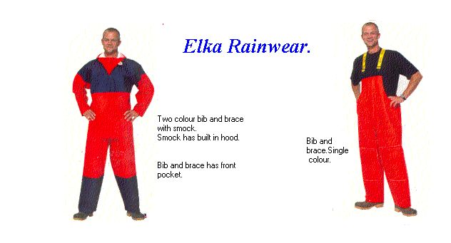 Strong foul weather clothing from Elka rainwear.