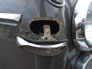 Corrosion on the indicator of a rover p5b