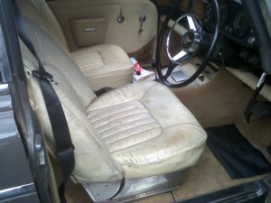 Rover v8 front seat.These are expensive to restore or recover