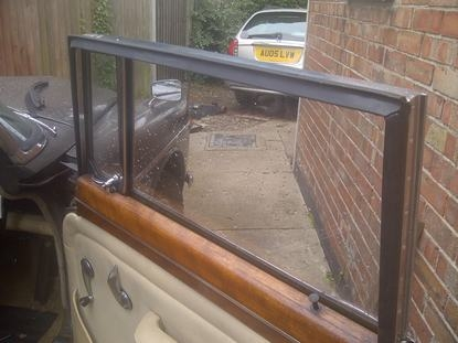 Making new door seals on Rover P5b front doors.