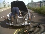 Rover p5b catches pedestrian